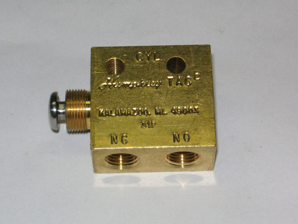 Humphrey 3 Way Push Button Tac Valve Automation Parts