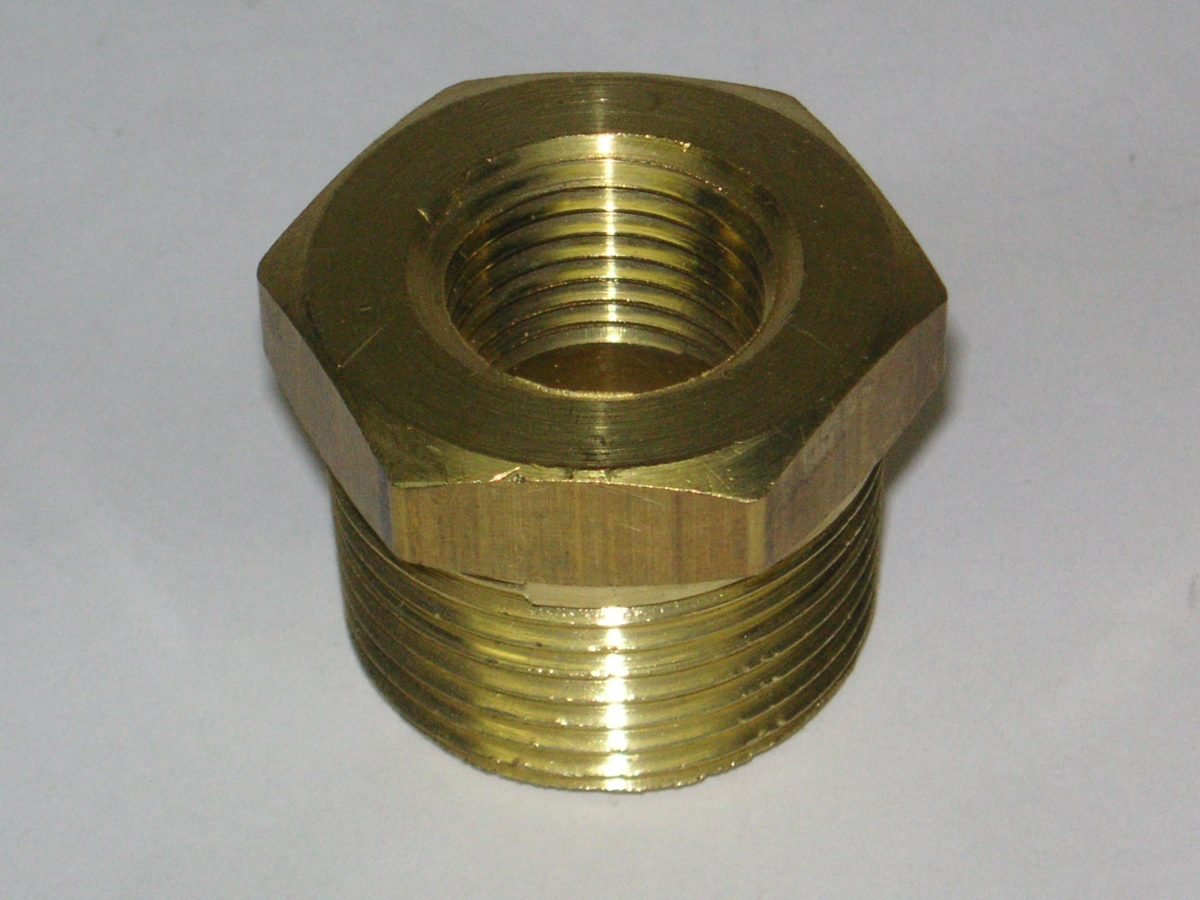 Brass bushing hex fitting fc air inc