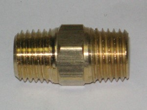 Brass Hex Nipple Fitting 112X1