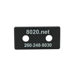 Black 80/20 End Cap 2025