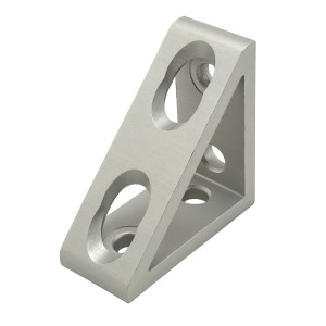 Wide 4 Hole Inside Gusset Corner Bracket