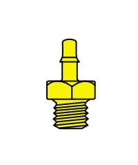 Memco Brass 10-32 Male Thread To Tube - B1