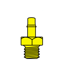 Memco Brass 10-32 Male Thread To Tube - B2