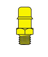 Memco Brass 10-32 Male Thread To Tube - B4