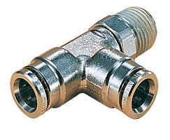 Norgren 3/8-1/4 Male Swivel Tee Threaded Connector